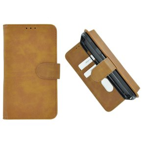 Pearlycase Hoes Wallet Book Case Bruin voor Sony Xperia XA3