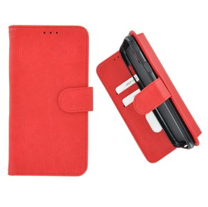 Pearlycase Hoes Wallet Book Case Rood voor Sony Xperia XA3