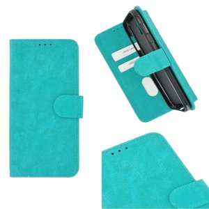 Pearlycase Hoes Wallet Book Case Turquoise voor Sony Xperia XA3