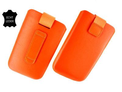 Samsung S7582 Galaxy S Duos 2  - Echt Leder insteek hoesje  -Oranje