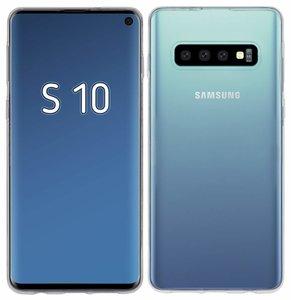 Pearlycase Transparant TPU Siliconen case hoesje voor Samsung Galaxy S10+