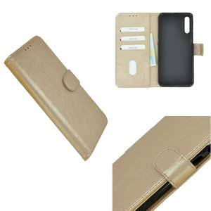 Pearlycase Hoes Wallet Book Case Goud voor Nokia 9 PureView