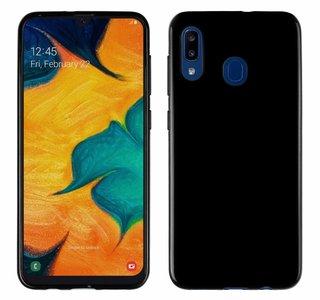Pearlycase Zwart TPU Siliconen case hoesje voor Samsung Galaxy A20