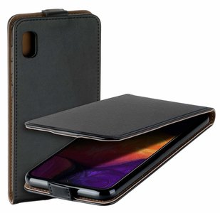 Pearlycase Lederlook Flip Case hoesje Zwart voor Samsung Galang Galaxy A10