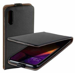 Pearlycase Lederlook Flip Case hoesje Zwart voor Samsung Galang Galaxy A50