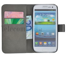 Samsung,galaxy,trend,plus,book,style,wallet,case,zwart
