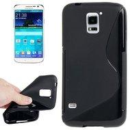 Samsung,galaxy,s5,plus,hoesje,siilicone,case,zwart