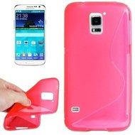 Samsung,galaxy,s5,plus,hoesje,siilicone,case,roze