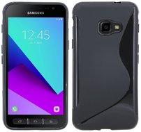 Samsung-Galaxy-Xcover-4-Zwart-S-line-TPU-siliconen-case-hoesje