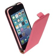 Apple,iphone,5c,hoesje,lederlook,flip,case,roze