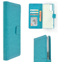 Pearlycase-Hoes-Wallet-Book-Case-Turquoise-voor-Sony-Xperia-5