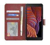 Samsung Galaxy Xcover 5 Hoesje Bookcase Bruin