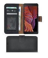 Samsung-Galaxy-Xcover-5-hoesje-Bookcase-Samsung-Xcover-5-Wallet-Book-Case-Echt-Leer-Zwart-Cover