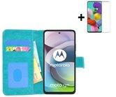 Motorola Moto G 5G Hoesje Turquoise + Screenprotector