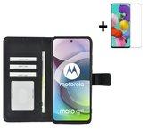 Motorola Moto G 5G Hoesje Zwart + Screenprotector