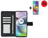 Motorola Moto G 5G Hoesje Zwart + 2x Screenprotector
