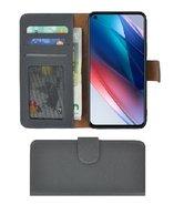 Oppo-Find-X3-Lite-Hoesje-Bookcase-Oppo-Find-X3-Lite-Wallet-Book-Case-Echt-Leer-Grijs-Cover
